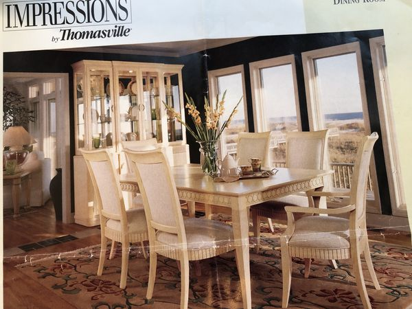 Thomasville Cirrus dining set table chairs hutch buffet ...