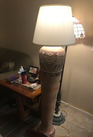 Match Pair (2) - 1 Floor and 1 Table Top Lamps Southwestern motif for Sale in Las Vegas, NV