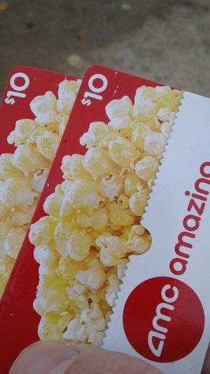 2 10$ amc movie cards for Sale in Livonia, MI