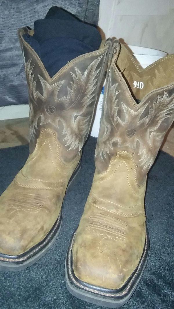 f3de3a47e6f Ariat Men's Sierra Wide Steel Square Toe Western Wellington Work Boots for  Sale in Austin, TX - OfferUp