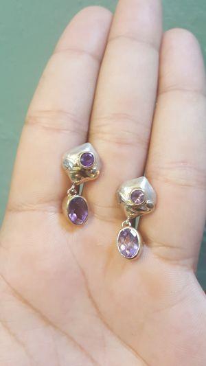 Amethyst drop earrings for Sale in Tucson, AZ