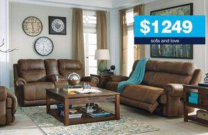 Bomber jacket reclining sofa and love for Sale in Atlanta, GA