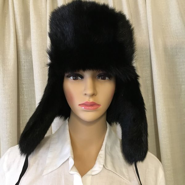 Authentic Real Fur Ushanka Trapper Hat Handmade in Kyrgyzstan for ... 2981946fa40