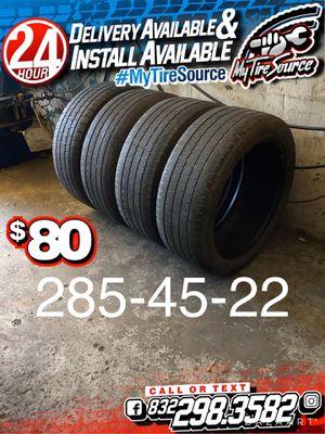 Photo 285-45-22 tires