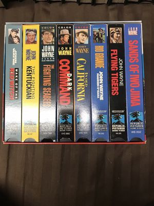 VHS John Wayne larger then life set for Sale in Raleigh, NC