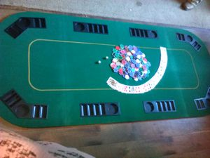 POKER TABLE Collapsable and portable for Sale in WINTERGRN RST, VA