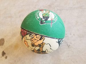 Mini celtics ball with mini basketball hoop for it for Sale in Leesburg, VA