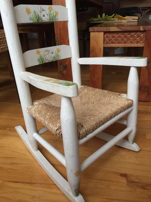Hand painted wooden child's rocking chair for Sale in Bethesda, MD