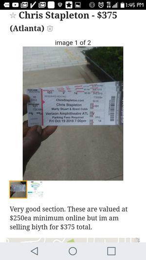Chris Stapleton Concert for Sale in Atlanta, GA