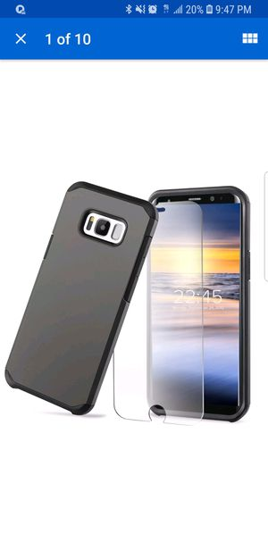 Galaxy 8s plus case and glass protector for Sale in Hyattsville, MD