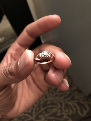 1/4 ct diamond ring rose gold for Sale in Chillum, MD