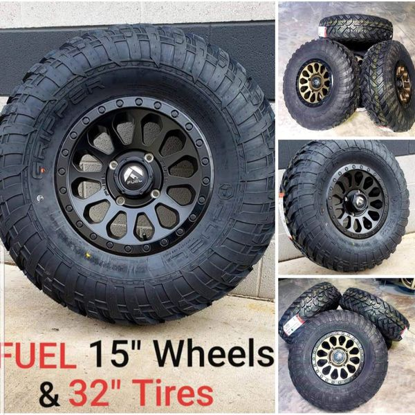 RZR CAN AM UTV 15x7 Fuel Wheels & 32x10-15 DOT TIRES ) We