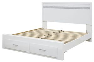 Photo Ashley Furniture Queen Size Storage Bed Frame, White