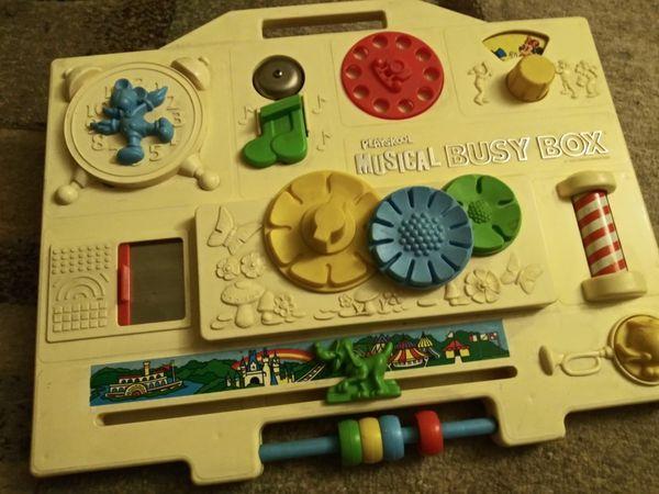 Vintage Disney Playskool Musical Busy Box Activity Center Crib Toy