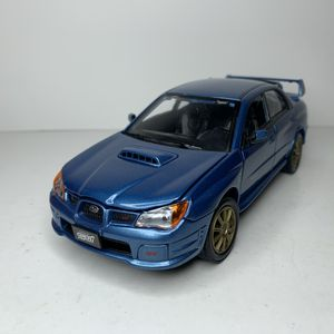 Photo NEW Large Blue Subaru Impreza WRX STI Car Model