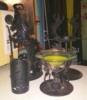 halloween party lite candle holder lot and wax warmer for sale in hillsboro mo