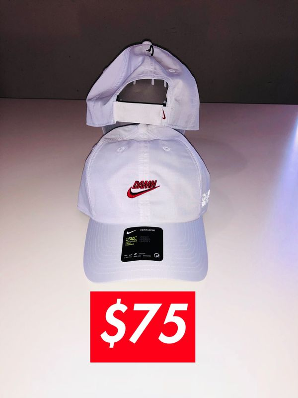 bf022fee TDE X NIKE Kendrick Lamar white DAMN HAT for Sale in Los Angeles, CA -  OfferUp