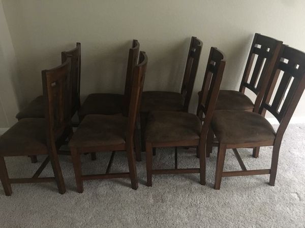 Divorce Liquidation8 Chairs From Oak Express Real Wood 250 For Sale In San Antonio TX