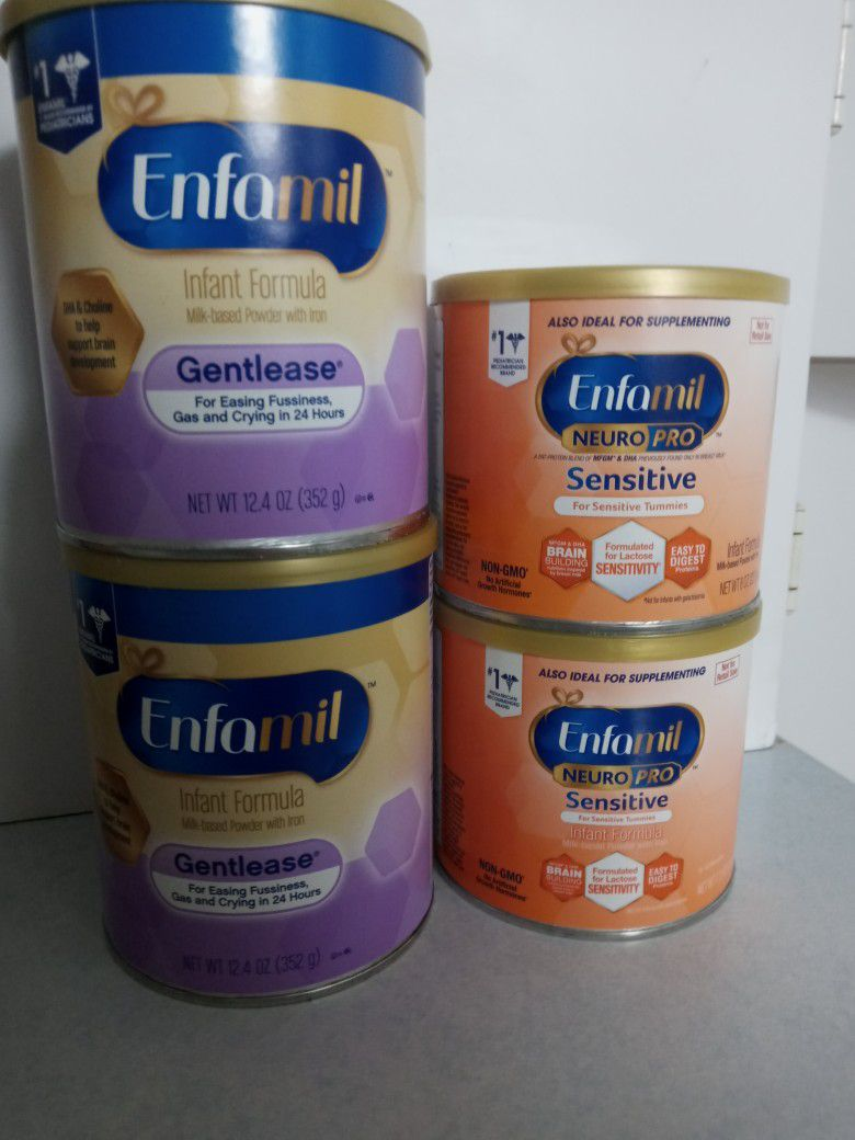 Enfamil Gentlease & Neuropro Sensitive Baby Food Formula Can