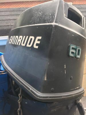 Boat motor evevrude 60hp great condition recently recently rebuilt for Sale in Fort Belvoir, VA
