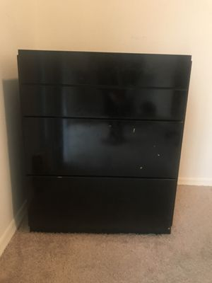 Black 3 Drawer Wooden Chest for Sale in Silver Spring, MD