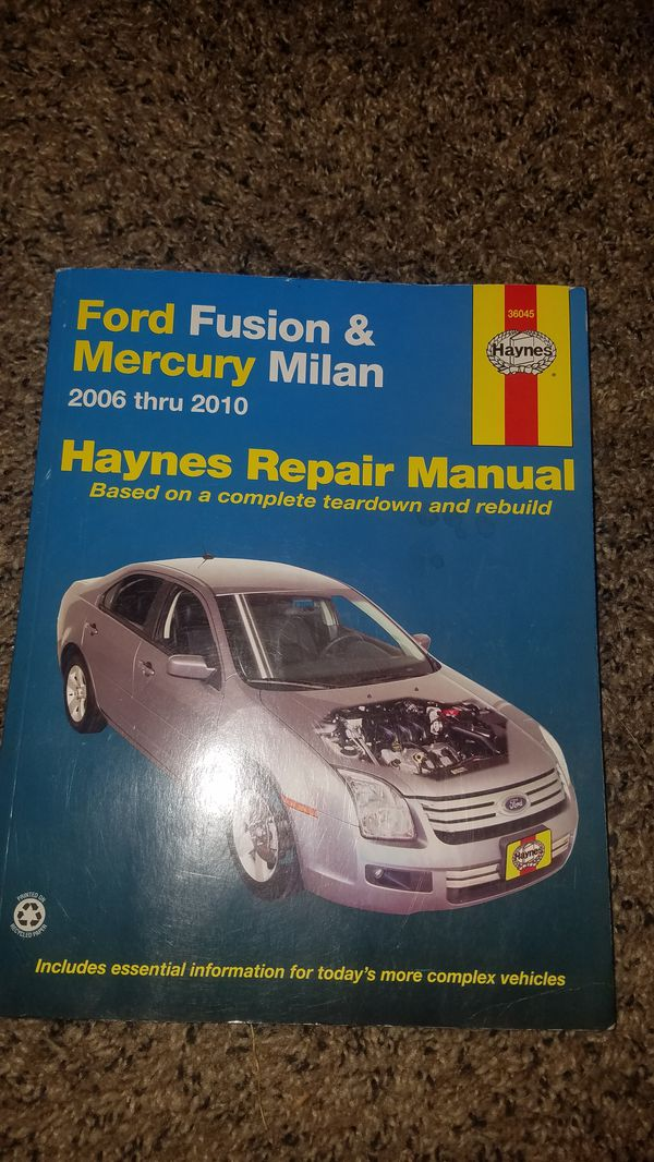 ford fusion haynes manual