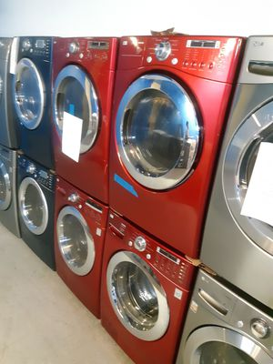 Photo LG FRONT LOAD WASHER AND DRYER SET WORKING PERFECTLY 4 MONTHS WARRANTY DELIVERY AVAILABLE