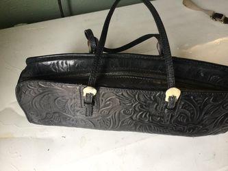 Authentic FENDI Mini Hand Bag Black Leather (used) Thumbnail