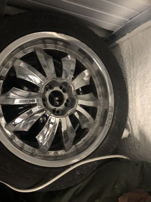 Truck rims and tires and speaker and amp for Sale in Baltimore, MD