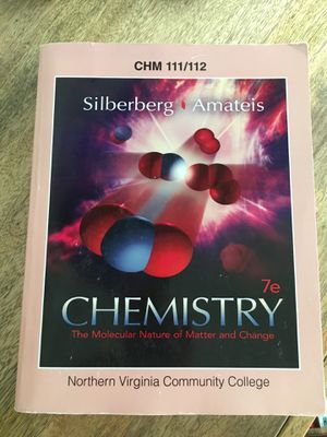 Chemistry 111/112 textbook for NOVA for Sale in Manassas, VA