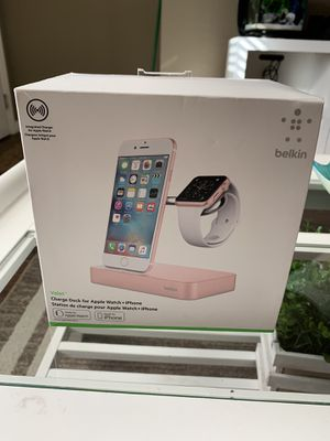 Belkin Valet Charge Dock for Apple Watch + iPhone (Rose Gold) for Sale in Winter Garden, FL