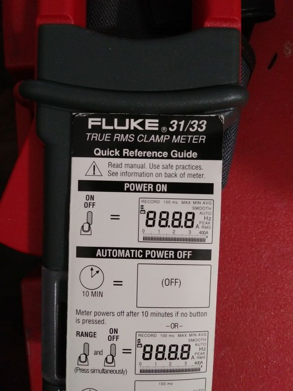 Fluke 33 true RMS clamp meter for Sale in Glendale, AZ - OfferUp