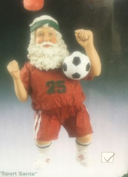 Santa soccer collectible Thumbnail