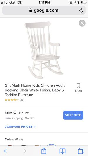 Surprising New Adult Rocking Chair White For Sale In Long Beach Ca Machost Co Dining Chair Design Ideas Machostcouk