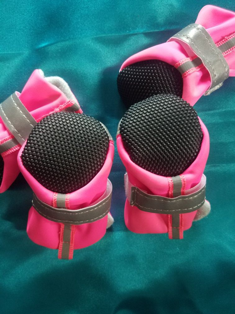 Brand new pink puppy booties
