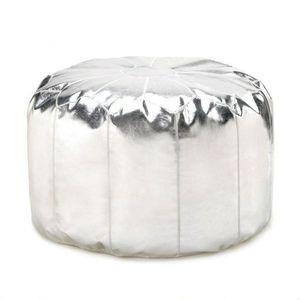 Silver Ottoman Pouf for Sale in Port Barre, LA