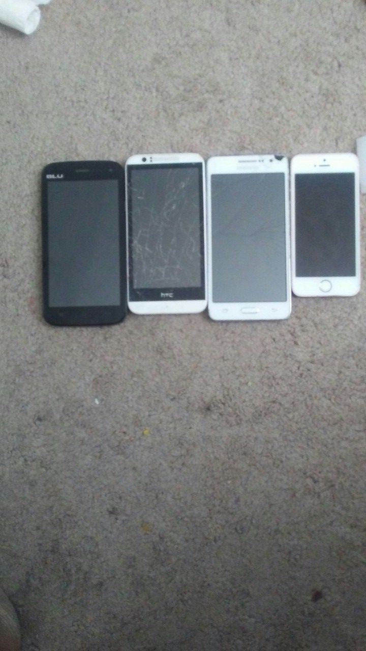4 cell phones