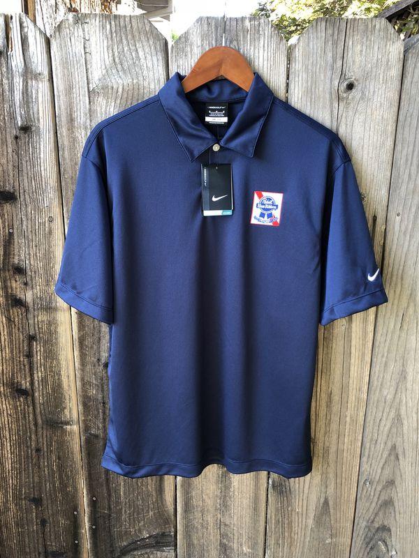 044448ef Nike Golf Polo Shirt Pabst Blue Ribbon Beer Men's Medium New NWT for ...