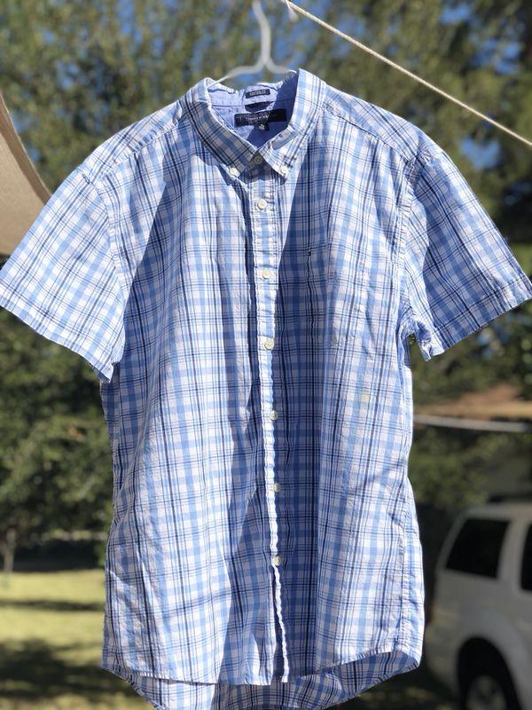 71191a72 Blue Tommy Hilfiger plaid button down shirt for Sale in Payson, AZ ...