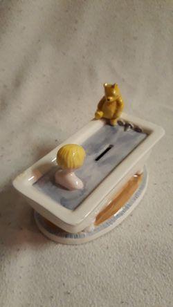 Winnie-the-Pooh Bank. No chips or cracks. No plug on bottom. $8 Thumbnail