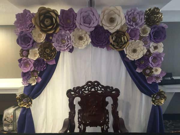 Paper Flower Backdrop Decor Birthday Wedding Party For Sale In Hayward Ca Offerup
