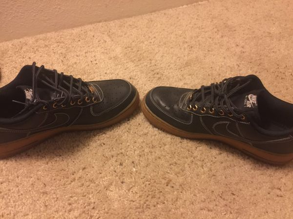newest collection 3e666 e9cf8 Black Nike Air Force 1 low with gum bottom for Sale in Denver, CO - OfferUp