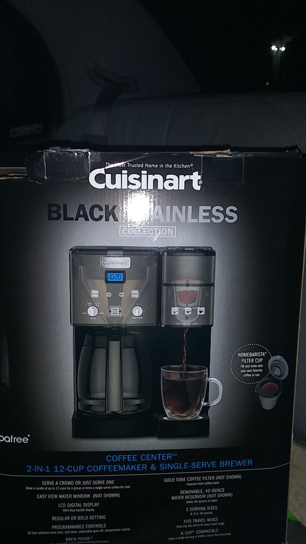 b3d85062045 CUISINART STAINLESS STEEL 12 Cuisinart - Coffee Center 12-Cup Coffee Maker  and Single-Serve Brewer