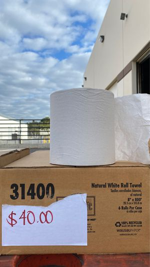 Photo Paper towels natural white roll. 6/cs 8x800' rolls