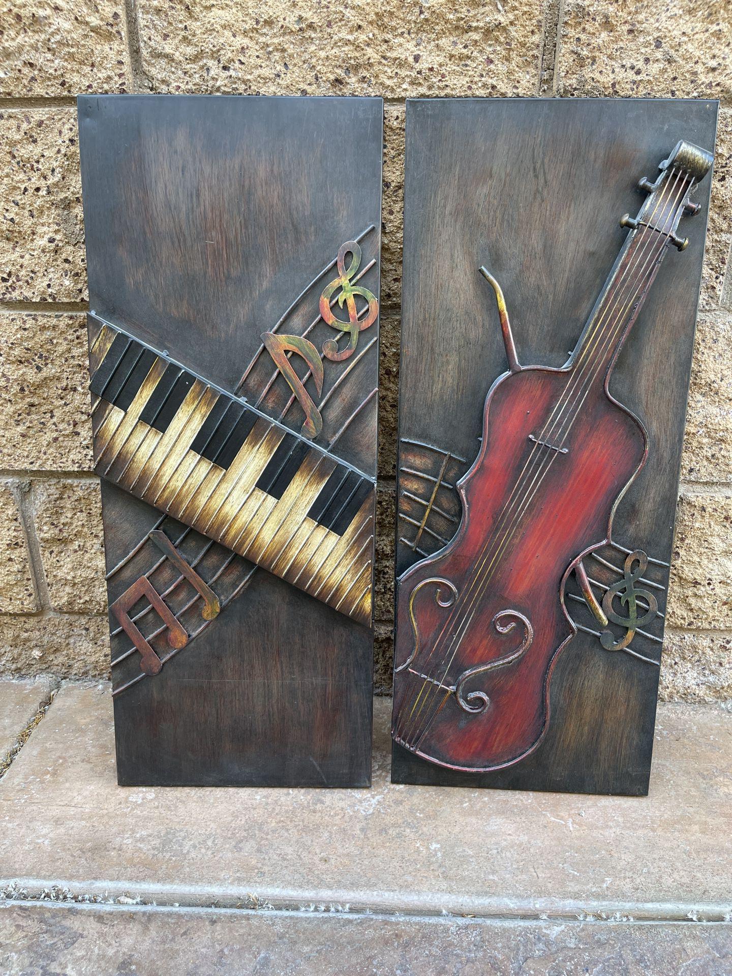 Metal Instruments Wall Decoration