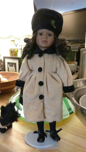 Black doll with dog on leash. for Sale in Washington, DC