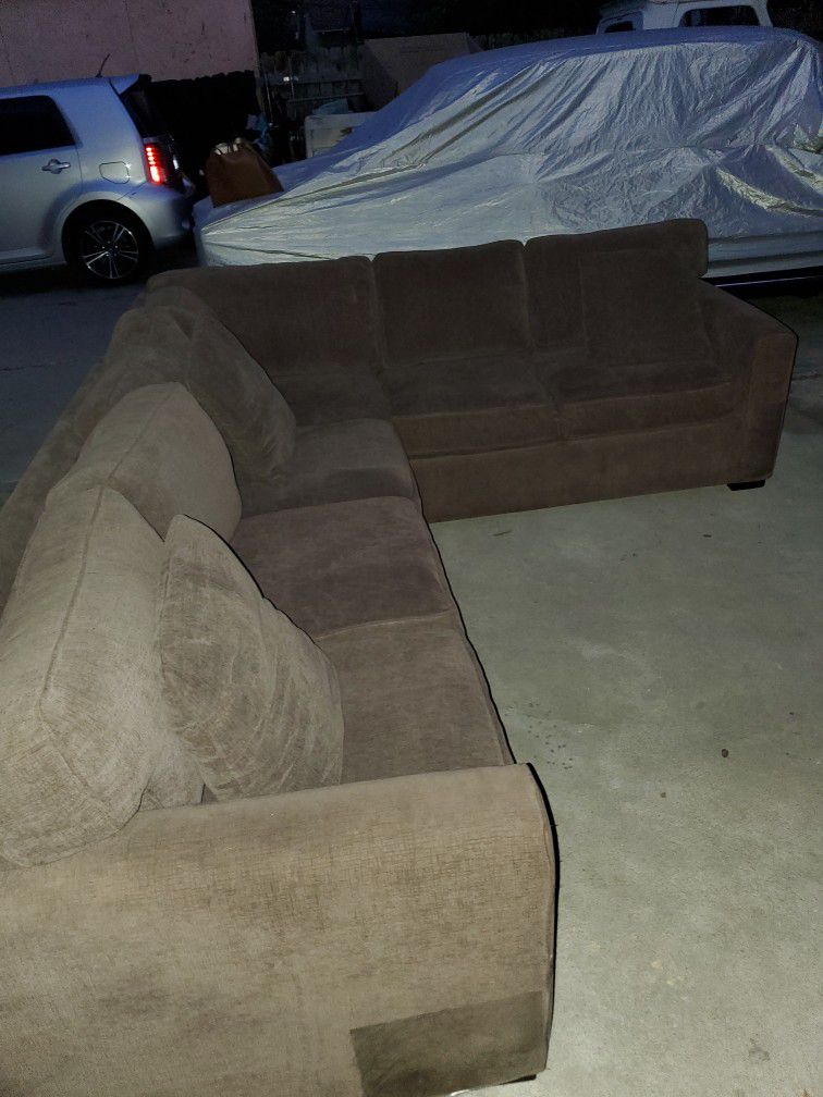 Selling Sectional Sofas In Good Condition  Color Brown For $350