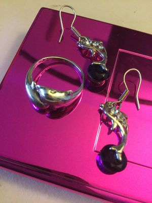 Sterling Silver earrings and rings 🛍 Dolphin ring $25 Dolphin earrings $25 🐬 More jewelry welcome to visit ! for Sale in Lincolnia, VA