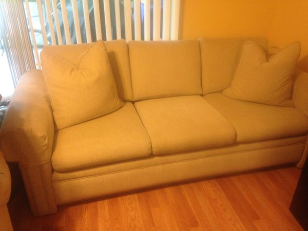 Chenille Sofa Bed With Down Pillows Furniture In Boca Raton Fl Offerup
