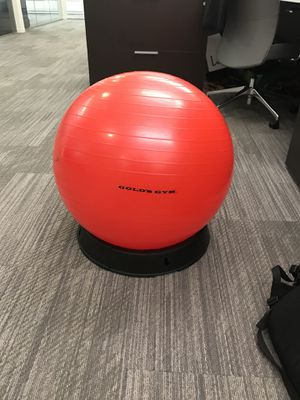 Gold's Gym stability ball / exercise ball with standing base for Sale in Chicago, IL